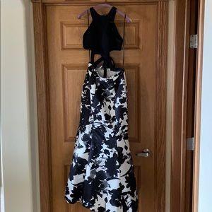 Two-piece mermaid style prom dress